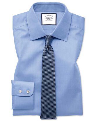 Chemise bleu ciel extra slim fit à chevrons fins