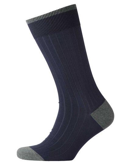 Navy ribbed socks
