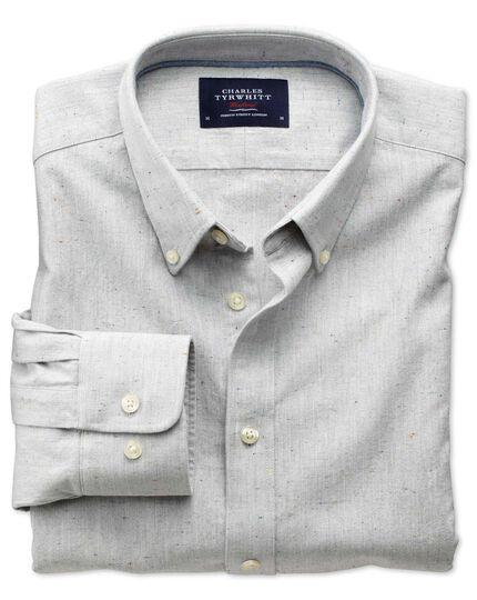 Slim fit modern Oxford grey fleck shirt