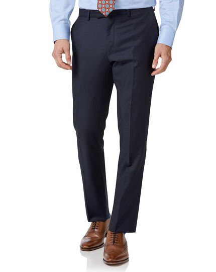 Navy slim fit Italian twill luxury suit pants