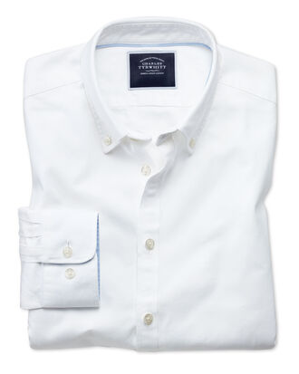 Extra Slim Fit Oxfordhemd in Weiß