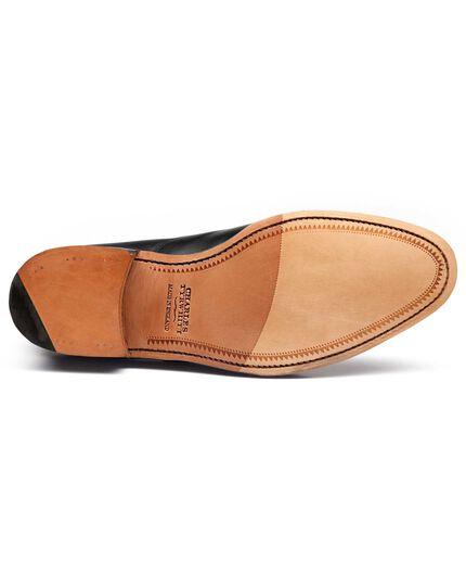 Chaussures Oxford noires en cuir de veau avec bout rapporté Heathcote