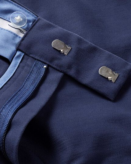 Marine blue extra slim fit flat front non-iron chinos
