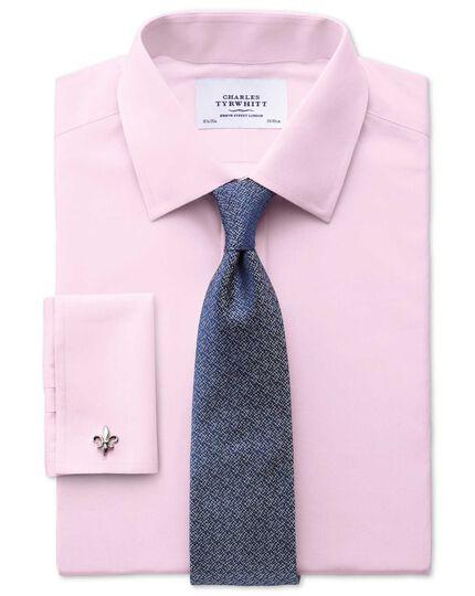 Slim fit end-on-end pink shirt