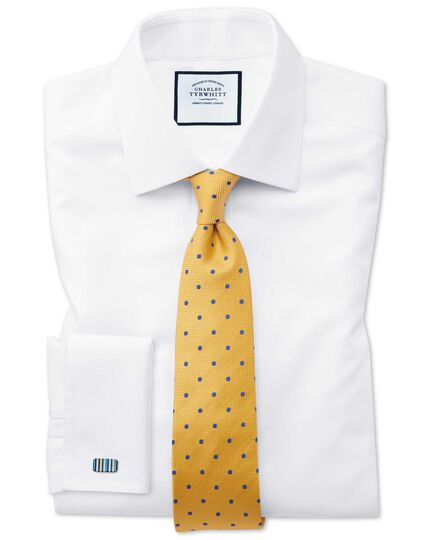 Gold and blue silk spot classic tie