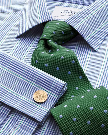 Chemise Prince de Galles bleue et verte slim fit