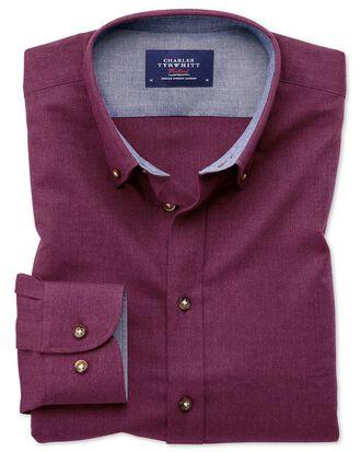 Classic fit button-down soft cotton berry shirt