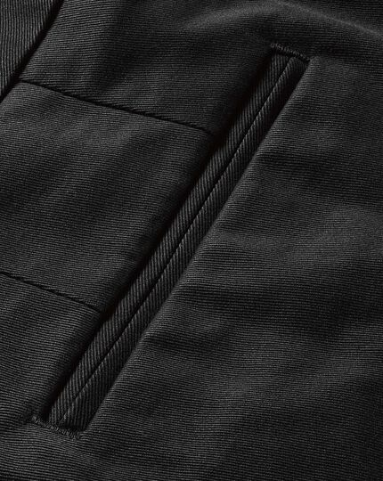 Black classic fit flat front non-iron chinos