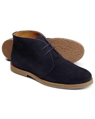 Desert boots bleu marine en daim