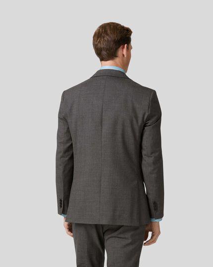 Veste de costume business grise en Merino slim fit