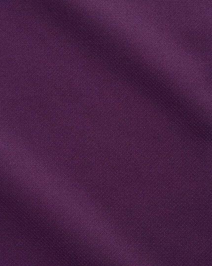 Slim fit semi-spread collar business casual non-iron modern textures dark purple shirt