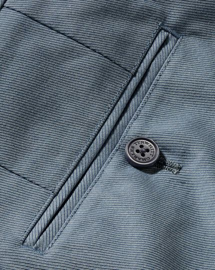 Classic Fit Stretch-Hose aus Cavalry-Twill Chambray in Blau
