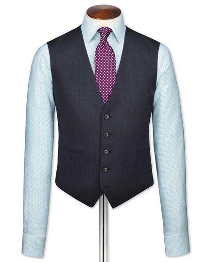 Navy end-on-end business suit vest