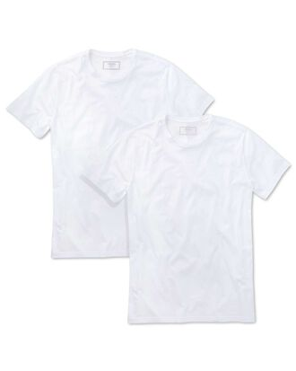 2 pack white cotton t-shirts