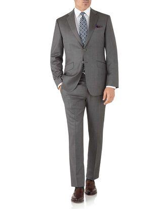 Costume gris en tissu italien slim fit