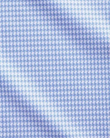 Classic Fit Hemd in Himmelblau mit großem Hahnentritt
