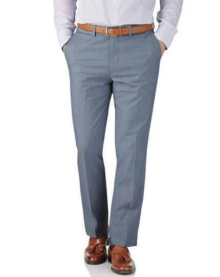 Slim Fit Stretch-Hose aus Cavalry-Twill Chambray in Blau