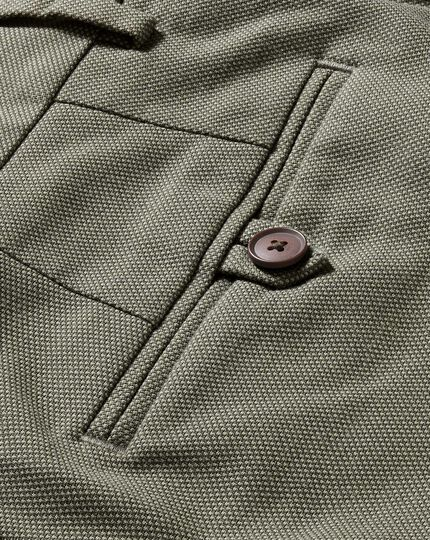 Olive slim fit stretch non-iron pants