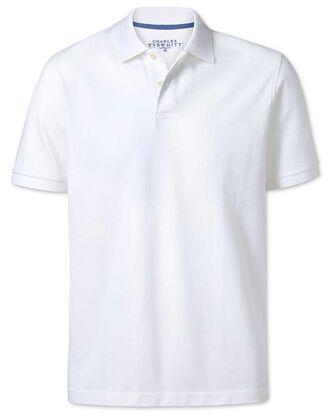 Piqué-Poloshirt in Weiß