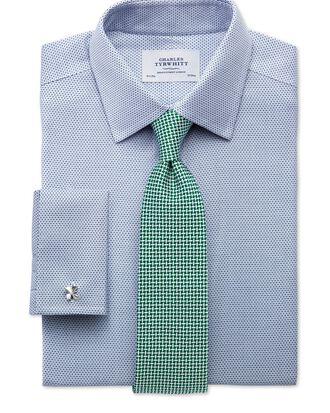 Chemise bleue en tissu impériale slim fit sans repassage