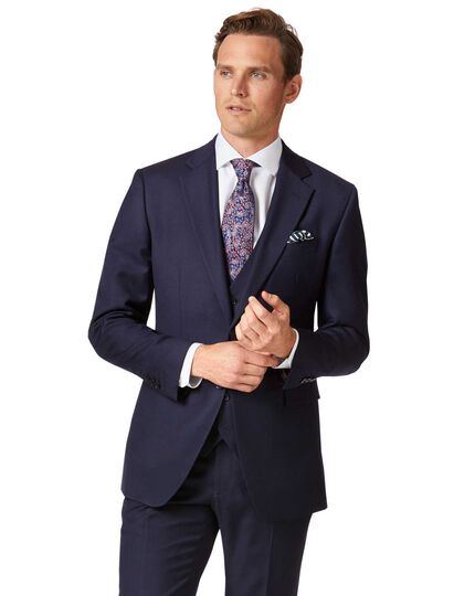 Veste de costume business bleu marine en twill slim fit