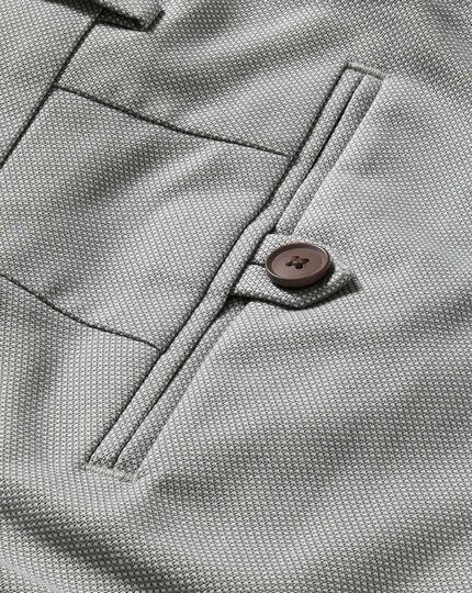 Pantalon argent slim fit en tissu stretch sans repassage