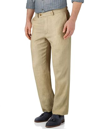 Stone classic fit linen pants