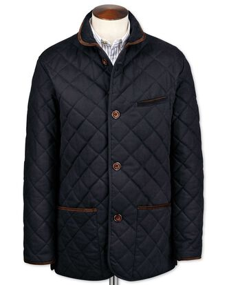 Navy canvas quilted jacket