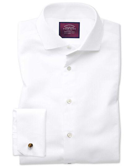 Extra Slim Fit Spread Collar Non Iron Luxury White Shirt
