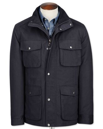 Navy cotton field coat