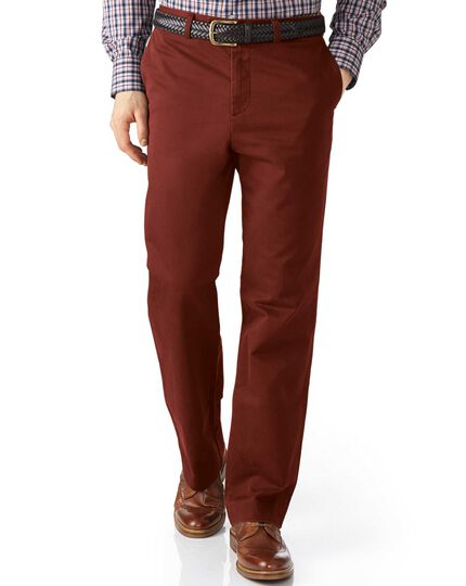 Copper classic fit flat front chinos