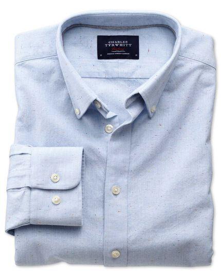 Classic fit modern Oxford sky blue fleck shirt