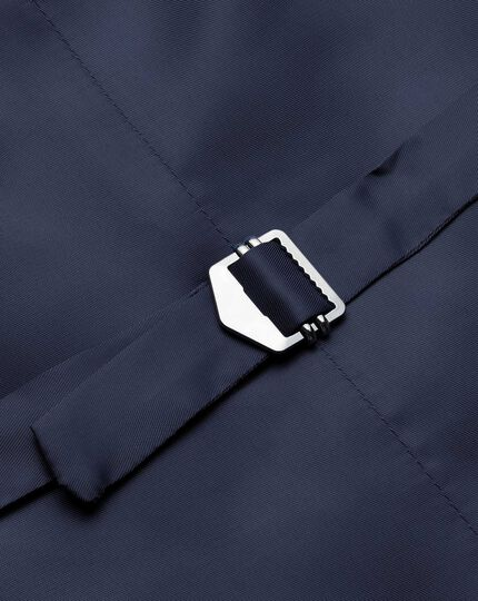 Gilet de costume business bleu marine en twill coupe ajustable
