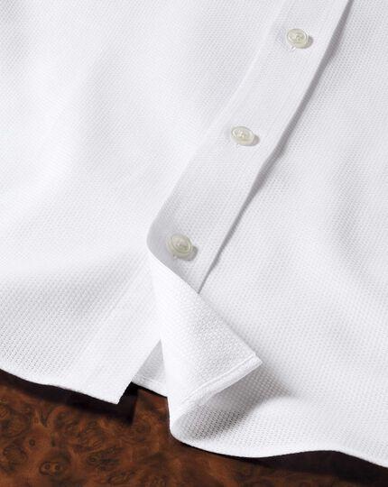 Classic fit Egyptian cotton diamond texture white shirt