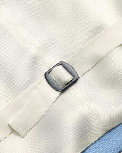 Blue adjustable fit morning suit waistcoat