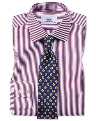 Classic fit Bengal stripe purple shirt