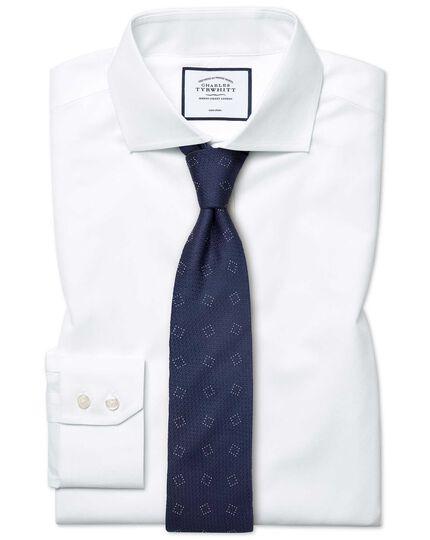 Classic fit cutaway non-iron poplin white shirt