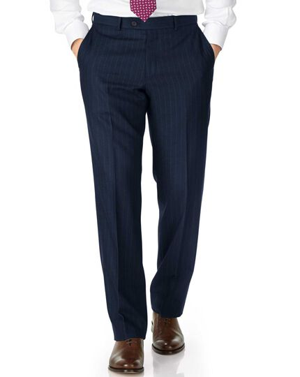 Classic Fit Saxony-Businessanzug Hose in Marineblau