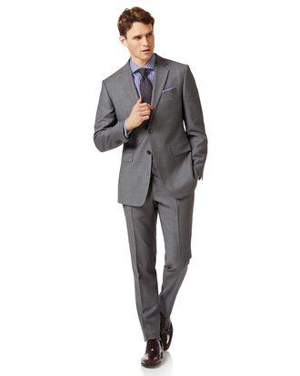 Slim Fit Businessanzug aus Fil-à-Fil in Grau