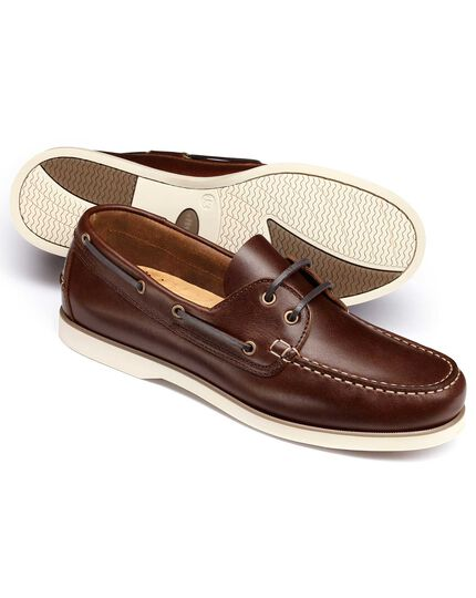 Brown Fowey boat shoes