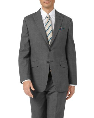 Charcoal classic fit Panama puppytooth business suit