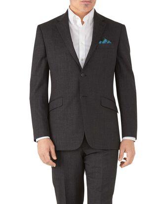 Veste de costume business charcoal avec motif milleraies et coupe droite