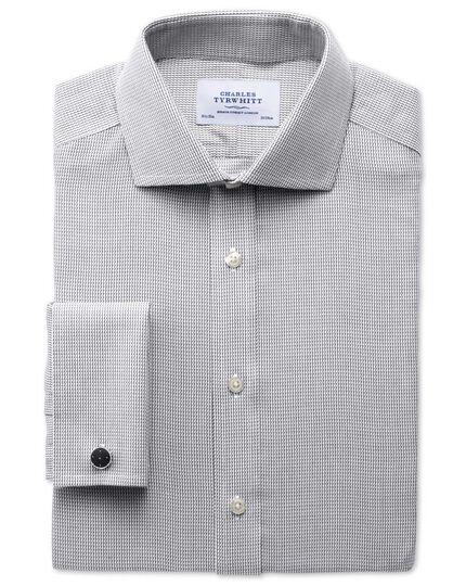 Chemise grise extra slim fit à col cutaway sans repassage