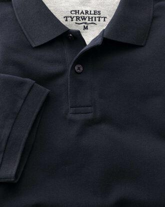 Piqué-Poloshirt in Marineblau