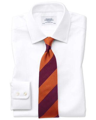Extra Slim Fit Royal Oxfordhemd aus ägyptischer Baumwolle in Weiß