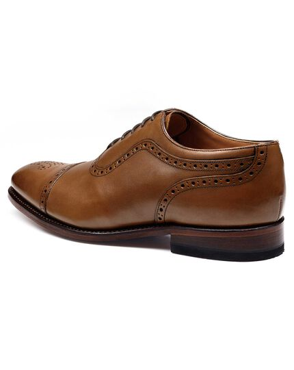 Brown Parker toe cap brogue Oxford shoes