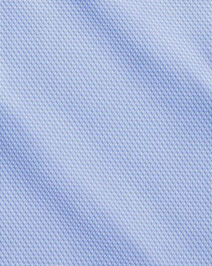 Chemise bleu ciel en coton égyptien slim fit à motif losange