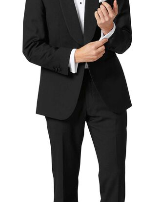 Black classic fit shawl collar tuxedo suit