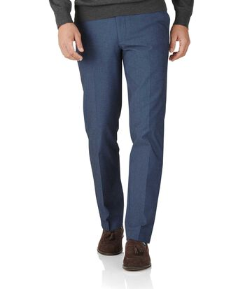 Indigo slim fit stretch cavalry twill trousers