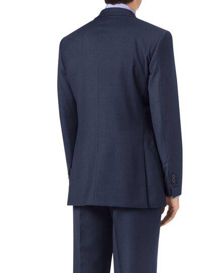Veste de costume business bleue en twill coupe droite
